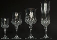 De wijnglazen van het kristal Stock Fotografie