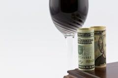 De wijnindustrie en financiële investeringenverhoging Royalty-vrije Stock Fotografie