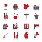 De wijnindustrie heeft pictogrammen bezwaar Stock Afbeeldingen