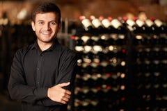 In de wijnkelder Stock Foto
