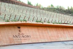 De wijnmakerij van de Chianti Classico van Antinori nel Stock Afbeelding