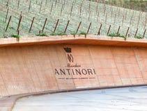 De wijnmakerij van de Chianti Classico van Antinori nel Stock Fotografie