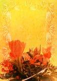 De wijnoogst stileerde bloemenframe Royalty-vrije Stock Foto