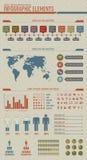 De wijnoogst stileerde infographic elementen Stock Foto's
