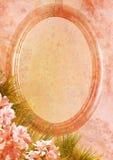 De wijnoogst stileerde ovaal frame royalty-vrije stock foto
