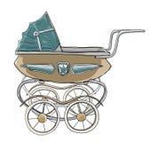 De wijnoogst van de babywandelwagen Royalty-vrije Stock Foto's