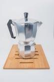 De wijnoogst van de koffiepot Stock Foto