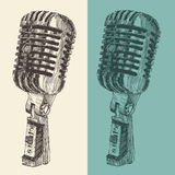 De Wijnoogst van de studiomicrofoon graveerde Retro Royalty-vrije Stock Foto