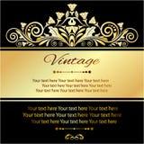 De wijnoogst van de uitnodigingskaart Stock Foto