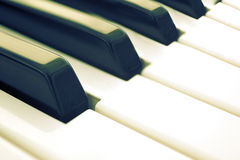 De wijnoogst van pianosleutels Stock Fotografie