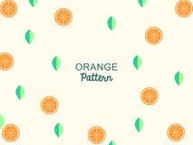 De wijnoogst van de sinaasappelentextuur voelt, oranje patroon stock illustratie