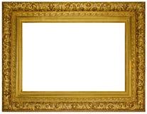 De wijnoogst verguldde houten Kader stock afbeeldingen