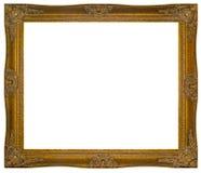 De wijnoogst verguldde houten Kader royalty-vrije stock afbeeldingen