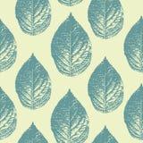 De wijnoogst verlaat naadloos patroon vectorillustratie klaar voor manier textieldruk en het verpakken Kleurrijke in bladaard stock illustratie