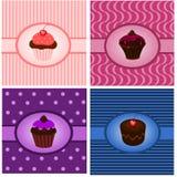 De wijnoogsten van Cupcake Stock Afbeelding