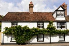 De wijnstok behandelde oud plattelandshuisje, wargrave royalty-vrije stock foto