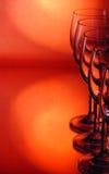De wijnstokglas van de groep Stock Afbeeldingen