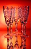 De wijnstokglas van de groep crystall Stock Afbeelding