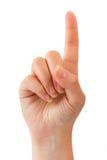 De wijsvinger van de vrouw Royalty-vrije Stock Foto's