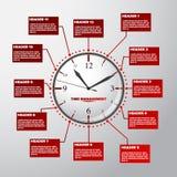 De wijzerplaat en het programma van het tijdbeheer royalty-vrije stock afbeeldingen