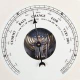 De wijzerplaat van de barometer die aan verandering wordt geplaatst Royalty-vrije Stock Afbeeldingen