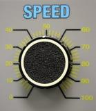 De Wijzerplaat van de snelheid Stock Afbeeldingen
