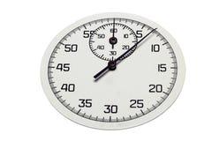 De wijzerplaat van een chronometer die de seconden telt Stock Foto's
