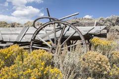 De Wilde Westennen, de verlaten landbouwbedrijven en de huizen royalty-vrije stock afbeelding