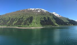 De Wildernis van Alaska met Snowcapped Bergen stock afbeelding