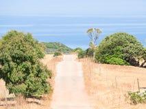 De wildernis van het land van Sardinige Stock Afbeelding