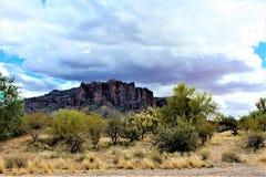 De Wildernisgebied Phoenix Arizona van bijgeloofbergen royalty-vrije stock fotografie
