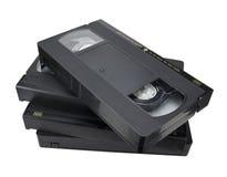 De willekeurig-vormstapel van de cassette Stock Afbeeldingen
