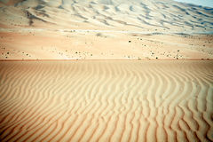 De wind leidde tot patronen in de zandduinen van Liwa-oase, Verenigde Arabische Emiraten Stock Foto