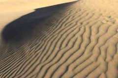 De wind maakt textuur op zand Royalty-vrije Stock Foto's