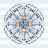 De wind nam kompas toe royalty-vrije illustratie