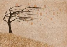 De wind van de herfst royalty-vrije illustratie