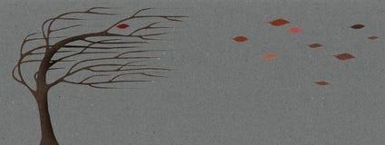 De wind van de herfst vector illustratie