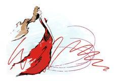 De wind van de vrouw Royalty-vrije Illustratie
