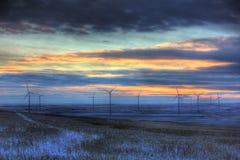 De wind van de zonsondergang Stock Foto's