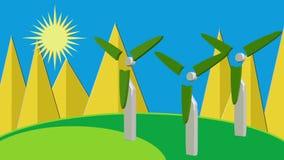 De wind van de schone energiezon zonne royalty-vrije illustratie