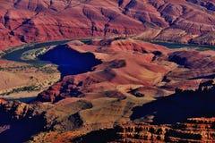 De Windende Rivier van Colorado bij het Nationale Park van Grand Canyon Stock Fotografie