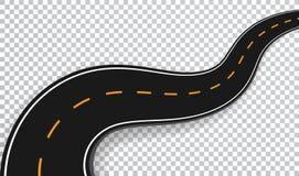 De windende Weg isoleerde Transparant Speciaal Effect De plaats infographic malplaatje van de wegmanier Vectoreps 10 royalty-vrije illustratie