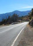 De windende Weg van de Berg Stock Foto