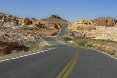 De windende Weg van Nevada Stock Afbeelding
