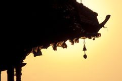 De Windklokkengelui van de tempel Royalty-vrije Stock Foto's