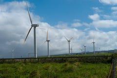 De Windlandbouwbedrijf van de Hawai Vernieuwbaar Ontwikkeling royalty-vrije stock fotografie