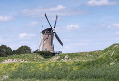 De windmolen DE goed hoepel in Holland Stock Afbeeldingen