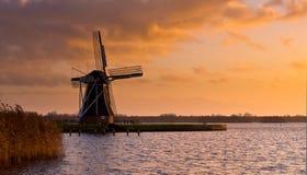 De windmolen molen Nederland Stock Afbeelding