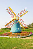 De windmolen op tuin Stock Fotografie