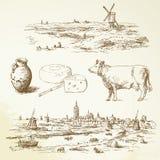 De windmolen van Holland Stock Foto's